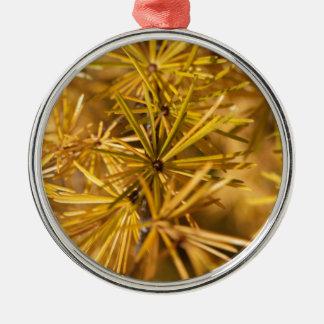 Yellow larch needles (Larix decidua) Metal Ornament