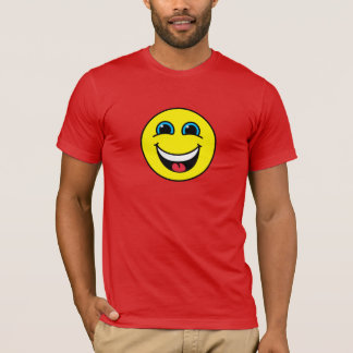 Yellow Laughing Smiley Face T-Shirt