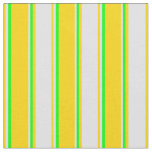 [ Thumbnail: Yellow, Lavender, and Lime Colored Lines Fabric ]