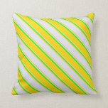 [ Thumbnail: Yellow, Lavender, and Lime Colored Lines Pillow ]