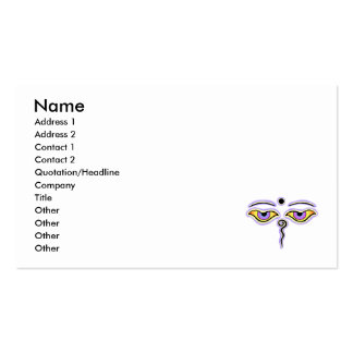 Yellow Lavender Buddha Eyes.png Business Card