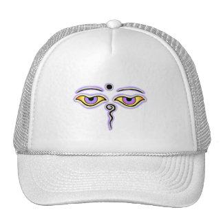 Yellow Lavender Buddha Eyes.png Trucker Hat