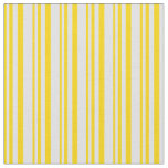 [ Thumbnail: Yellow & Lavender Colored Lined Pattern Fabric ]