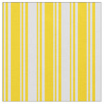 [ Thumbnail: Yellow & Lavender Colored Stripes Pattern Fabric ]