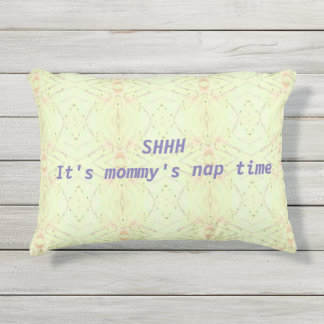 Yellow Lavender Mommy's Nap Time Outdoor Pillow