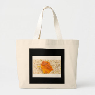 Yellow Leaf Large Tote Bag