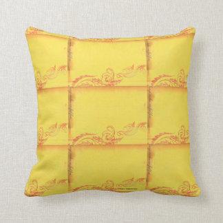 Yellow Leaf Throw pillow  by Mojisola A Gbadamosi