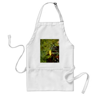 YELLOW LEAF UNDER RIPPLES IN CLEAR WATER ADULT APRON