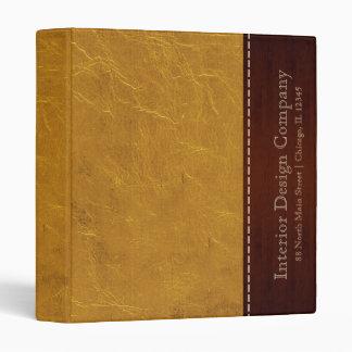 Yellow leather look binder