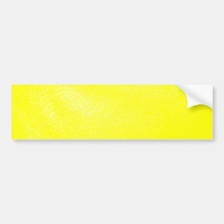 Yellow Leather Look (Faux) Bumper Sticker