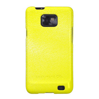 Yellow Leather Look Faux Samsung Galaxy S2 Case