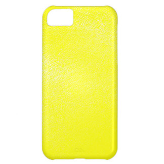 Yellow Leather Look (Faux) Cover For iPhone 5C
