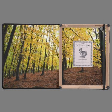 Yellow leaves forest iPad folio cases