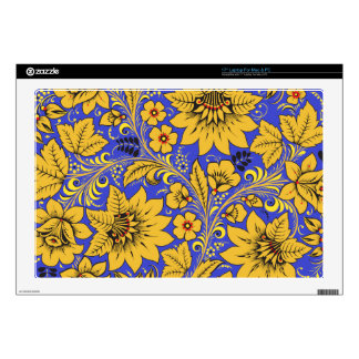 Yellow Leaves Hohloma Decals For Laptops