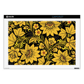 Yellow Leaves Hohloma Laptop Skin
