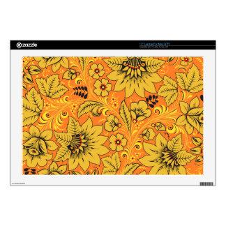 Yellow Leaves Hohloma Skins For Laptops
