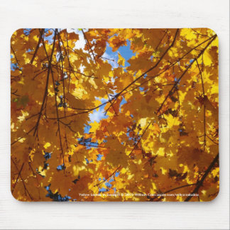 Yellow Leaves in Sunlight Mouse Pad