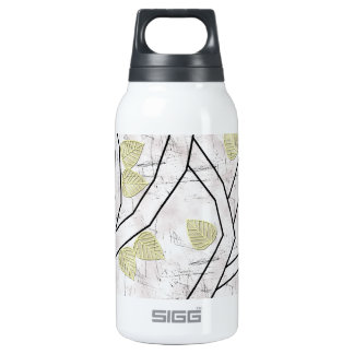 yellow leaves insulated water bottle