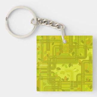 Yellow Leaves Keychain