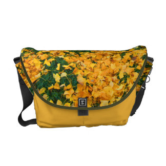 Yellow leaves messenger bag