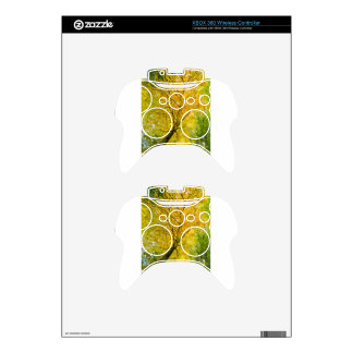 Yellow leaves of treetop with trunk in fall xbox 360 controller skin