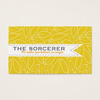 Yellow Leaves Pattern Elegant Business Card