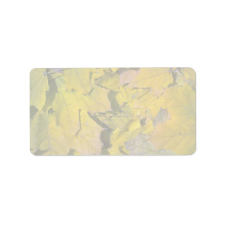 Yellow leaves texture personalized address label