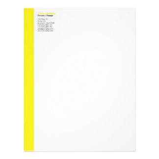 Yellow Left Sidebar Letterhead