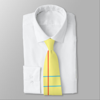 Yellow Legal Pad Notebook Paper Graphic Men's Tie