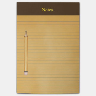 """""""Yellow Legal Pad"""" with """"Pencil"""" Post-it® Notes"""