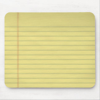 Yellow Legal Paper Mousepad