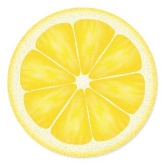 Yellow Lemon Citrus Fruit Classic Round Sticker