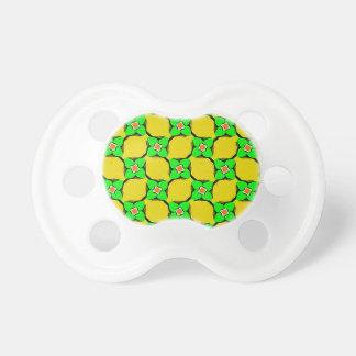 Yellow Lemon Garden Pattern pacifier