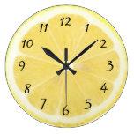 Yellow Lemon Kitchen Clock