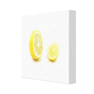 Yellow Lemon Slice Canvas Print
