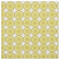 yellow lemon slices pattern fabric