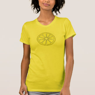 Yellow Lemon Wedge Slice Lemons Citrus Fruit Tee