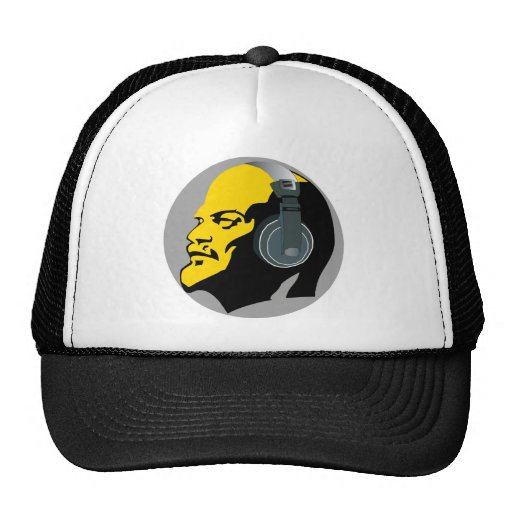 YELLOW LENIN WITH HEADPHONES Trucker Hat