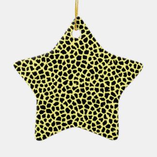 Yellow Leopard print Ceramic Ornament