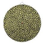 Yellow Leopard print Dartboard