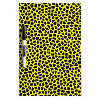 Yellow Leopard print Dry-Erase Board