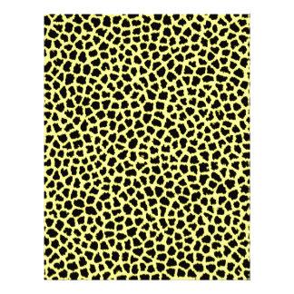 Yellow Leopard print Letterhead