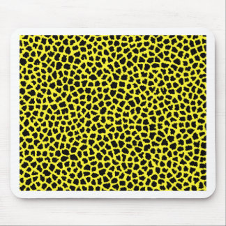 Yellow Leopard print Mouse Pad