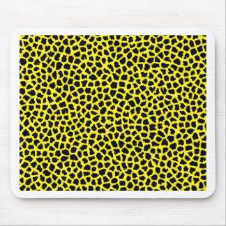 Yellow Leopard print Mousepads