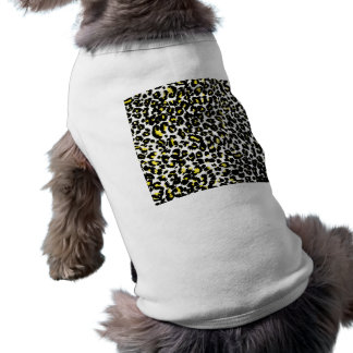 Yellow Leopard Spots Pattern Dog T-shirt