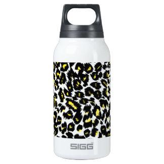 Yellow Leopard Spots Pattern Insulated Water Bottle