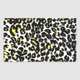 Yellow Leopard Spots Pattern Rectangular Sticker
