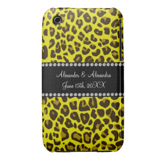 Yellow leopard wedding favors iPhone 3 cases