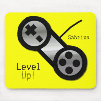 Yellow Level Up Mouse Pad