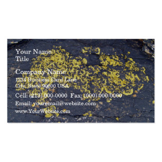 Yellow Lichens on a black rock Business Card